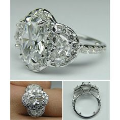 Vintage Oval Diamond Engagement Ring by mdc-diamonds on Polyvore