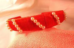 Cerchietto handmade con fili di perle bianche    #headband #accessories Fili