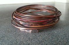 Items similar to Sold / Make to order please / 10 Genuine Copper Bangles Stacked / Bracelet / Fire Paint / Copper Jewelry on Etsy Copper Jewelry, Unique Jewelry, Fire Painting, Christmas Gifts For Husband, Bangles, Bracelets, Jewelry Design, Handmade Gifts, Vintage