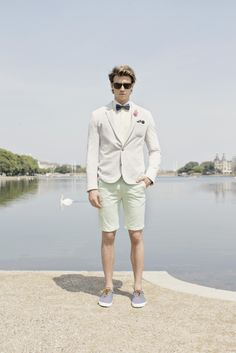 SS14 campaign - Lookbook Come take a walk with us and enjoy the oasis of tranquility around the lakes in central Copenhagen. Keep going and you will find everything a man needs in order to get dressed for special occasions, or just look outstanding on a beautiful day like this. Bruun & Stengade #bruunstengade