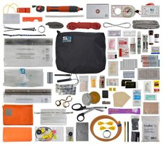 The Pro expanded level survival kit designed for self-sufficiency covers all eight life-saving survival tasks and contains more than 50 pieces.
