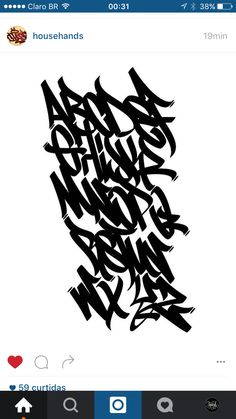 A B C D E F G H I J K L M N O P Q R S T U V W X Y Z Graffiti Text, Graffiti Lettering Fonts, Tattoo Lettering Fonts, Graffiti Tagging, Graffiti Drawing, Graffiti Murals, Lettering Styles, Street Art Graffiti, Lettering Design
