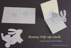 bunny pop up card kids