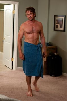 Is it hot in here? Or is that just Gerard Butler in a towel?! (#PlayingForKeeps. )