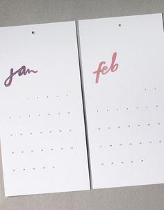 Fresh & Fun Handmade Calendar From Frills Paper & Goods