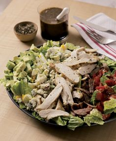 Cobb Salad with Balsamic Shallot Vinaigrette Recipe | Epicurious.com