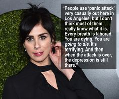 Sarah Silverman spoke to Glamour about living with depression and panic attacks.