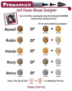 How you can easily coloryour House-Mouse Rubber Stamp Images using Promarkers