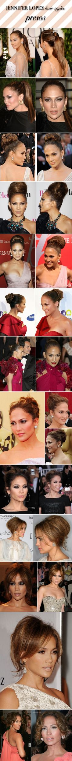 jennifer lopez hair style red carpet