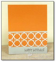 Karen @ Carefree Creations: Orange Motif