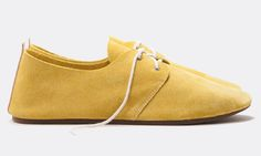 yellow suede oxford