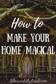 Learn how to make a magical home with cleansing rituals and spiritual protection. PLUS ultimate witchy decorating ideas and gardening! Wiccan Decor, Spiritual Decor, Wiccan Art, Wiccan Crafts, Spiritual Wellness, Magical Home, Magick Spells, Green Witchcraft, Healing Spells