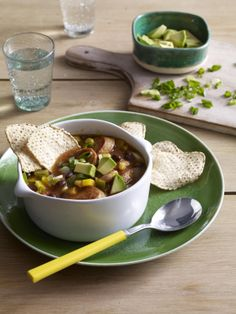 Sausage and Bean Tortilla Soup -  easy dinners This was very good and loved by the whole family.