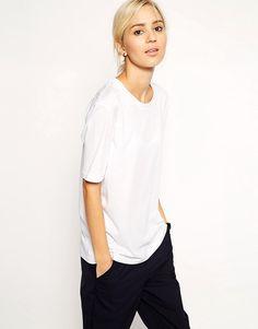 Image 1 ofASOS WHITE Fine Cotton T-Shirt