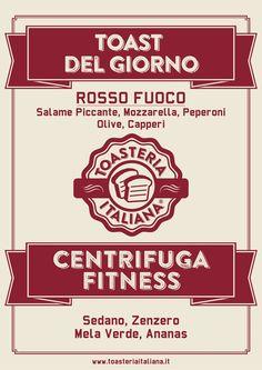 Toast del Giorno Rosso Fuoco @ Toasteria Italiana #toastdelgiorno #graphicdesign #toasteriaitaliana #flyer #poster #juice #fitness #salamepiccante #franchising #italy