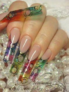 My favorite Precious design Acrilic nails Vitral