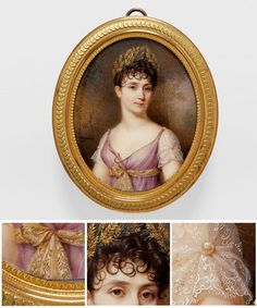 Jean-Baptiste-Jacques AUGUSTIN French 1759–1832 Portrait of Empress Josephine (Portrait de l'impératrice Joséphine) Empire period 1804–15 watercolour and gouache on ivory 6.7 x 5.4 cm. (The Foundation of Napoleon in Paris)