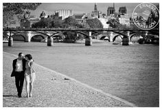 Séance d'engagement mariage de Caroline et Romain à Paris
