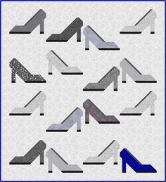 Some shoe fanatic inspired me to design this quilt. And today I am sharing the High Heel Shoe quilt block tutorial with you! Quilting For Beginners, Quilting Tutorials, Quilting Projects, Quilting Ideas, Quilt Block Patterns, Pattern Blocks, Quilt Blocks, Fat Quarter Quilt, Quilt As You Go