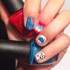 Australia | 38 Awesome Nail Art Designs Inspired By The World Cup