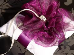 Wedding Ring Pillow Ribbon Pillow Bowrustic by SophieAtelier, $42.00