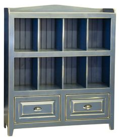 """Storage Bin Large is handmade by the Amish.  Your piece will be built with Premium Grade Eastern White Pine wood.  You will see some deformities and knots that come naturally with eastern pine.  Measures: 50"""" W x 59"""" H x 16"""" D Shown in Olde Navy"""