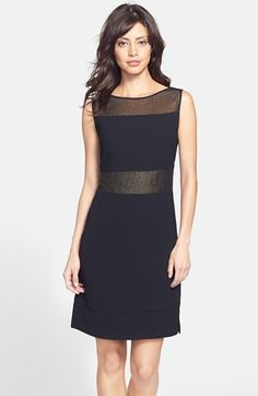 Marc New York by Andrew Marc Foiled Illusion Yoke Sheath Dress available at #Nordstrom
