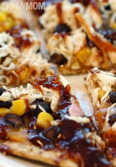 Skinny BBQ Chicken Flatbread  http://www.skinnymom.com/the-supper-club-by-skinny-mom/