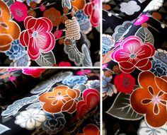 Japanese apricot flower fabric: photo by karaku*, via Flickr