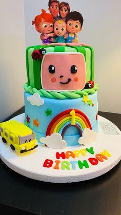 2nd Birthday Party For Girl, Boys First Birthday Party Ideas, 1st Birthday Party Decorations, Baby Birthday Cakes, Aniversario Peppa Pig, Watermelon Birthday Parties, Rainbow Tutu, Happy Birthday Jesus, Peppa Pig Birthday Invitations