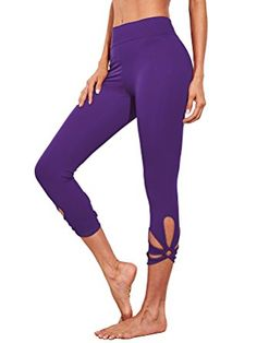 Women's Active Leggings - SweatyRocks Women's High Waisted Cutout Crop Leggings Yoga Workout Active Tights at Women's Clothing store: Kids Yoga Poses, Basic Yoga Poses, Yoga Poses For Beginners, Yoga For Kids, Tight Leggings, Workout Leggings, Yoga Fitness, Fitness Wear, Workout Wear