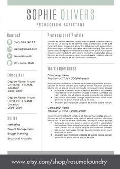 Easy to use resume template for MS Word. Guaranteed to improve your success. Instant Download. Shop ResumeFoundry on Etsy. Microsoft Word Resume Template, Modern Resume Template, Creative Resume Templates, Cv Template, Resume Words, Resume Writing, Cover Letter For Resume, Cover Letter Template, Resume Tips