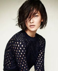 beautiful nude face and loving the short bob lately