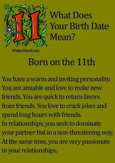 Link to all 31 days ... http://www.wishafriend.com/astrology/birthdatemean/