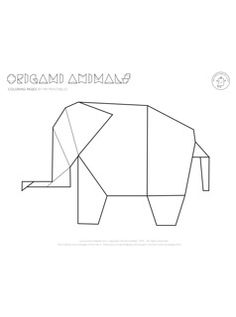 Rule the jungle with this Origami Elephant Coloring Page. This free coloring page features an elegant elephant design in the style of origami. Origami Dragon, Origami Fish, Origami Stars, Origami Birds, Origami Cranes, Paper Cranes, Oragami, Elephant Coloring Page, Animal Coloring Pages