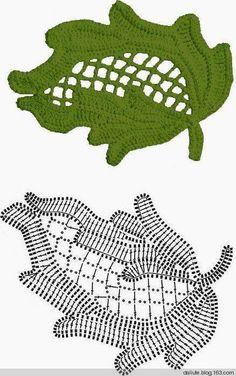 Irish crochet leaf motif