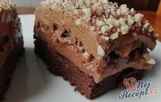 Čokoládové brownies se smetanovou pěnou New Recipes, Banana Bread, Food, Essen, Meals, Yemek, Eten