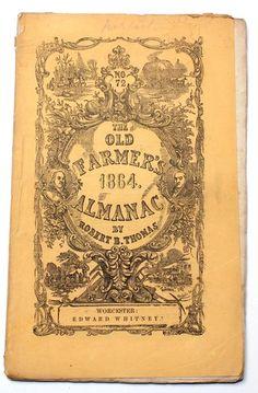 100 Original Civil War Dated 1864 Farmer's Almanac