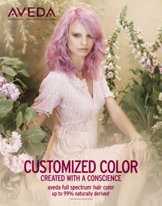 AVEDA's Art of Nature collection brings you Hair Color trends for Spring/Summer 2013 include pastel hair color! www.aveda.com