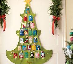 Felt advent tree