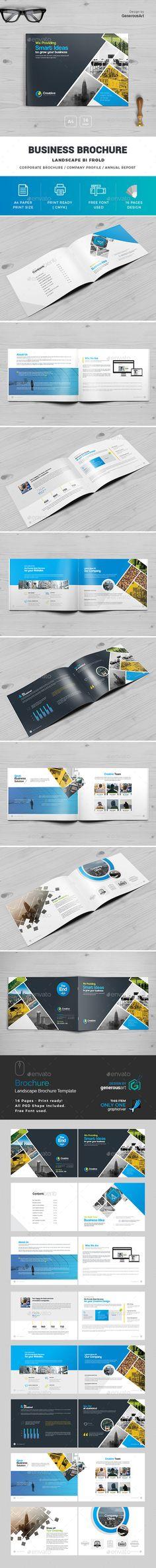 #Landscape #Brochure - Brochures Print #Templates