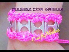 Tutorial:♥ Pulsera con Anillas de lata/ Crochet soda tab bracelet - YouTube