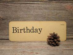 Vintage Flash Card Birthday, Birthday Flashcard