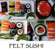 felt sushi tutorial and pattern from Tao of Craft blog