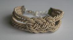 podwójna nieskończoność / beżowy sznurek skręcany