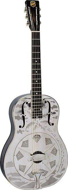 National Style O resonator guitar.