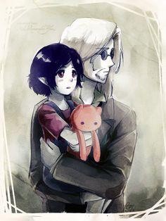 Simon and Marceline   Adventure Time   #adventuretime #marceline #simon #illustration #ilustração