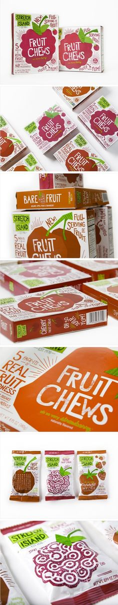 Stretch Island - fruit chews packaging