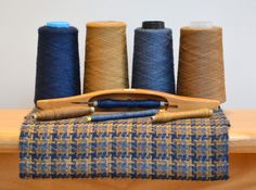 Handwoven Scarf in Wool, Silk and Cashmere (pinwheel)