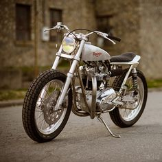 Triumph Racer: '67 Motor In A Trackmaster Frame. Built By Clay Rathburn Of Atom Bomb Custom.